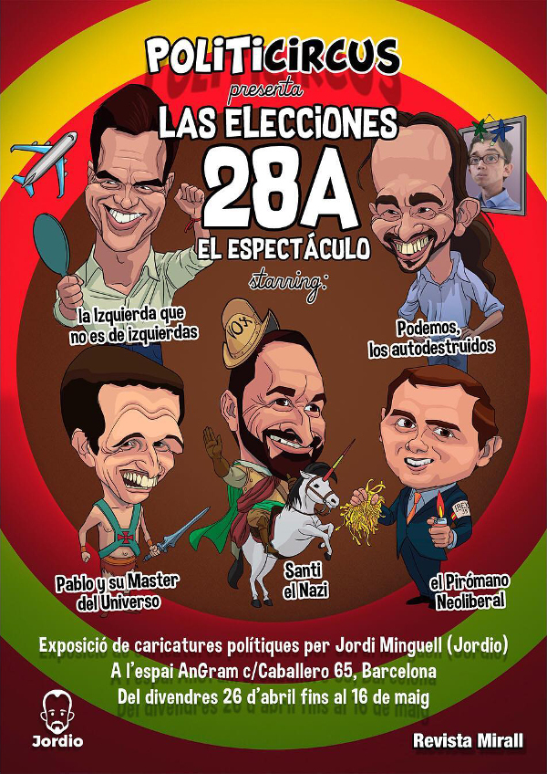 Politicircus caricaturas de políticos