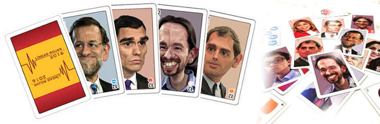 Naipes caricaturas políticos